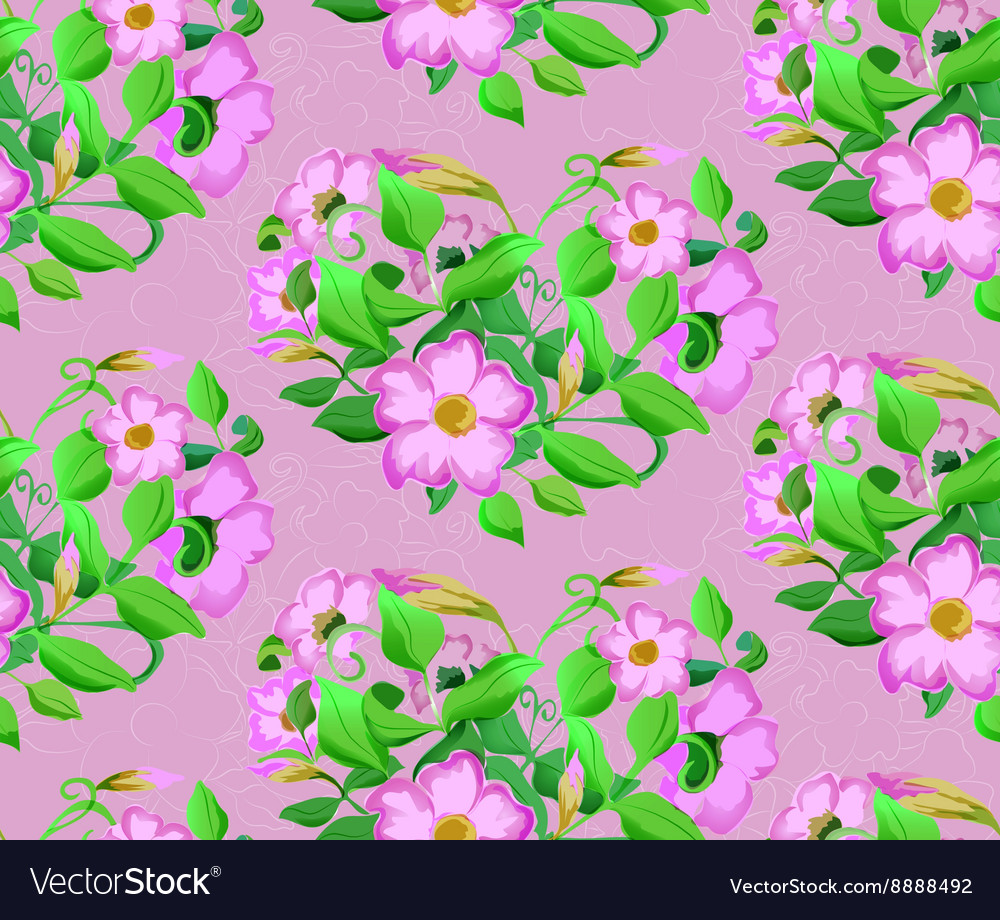 Seamless background of watercolor flowers in