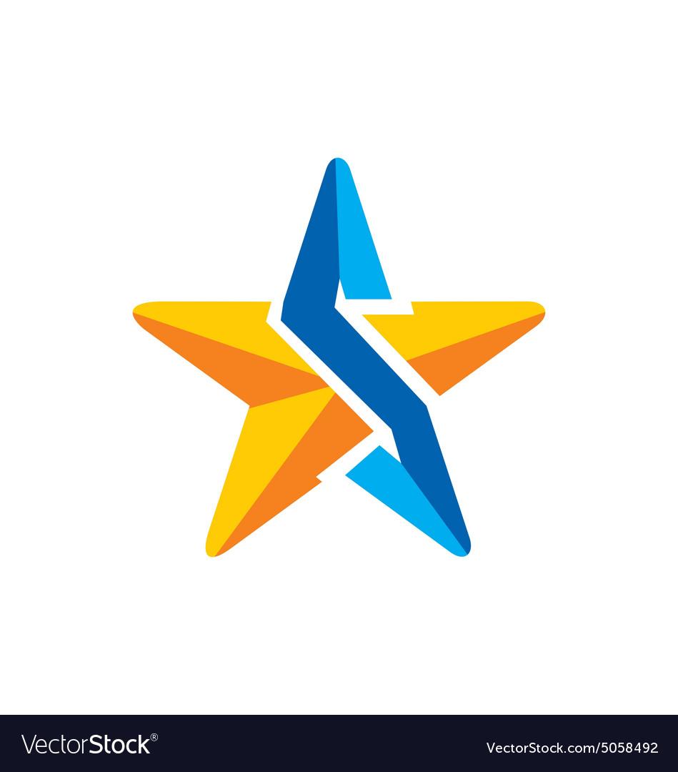 Star 3D technology arrow logo