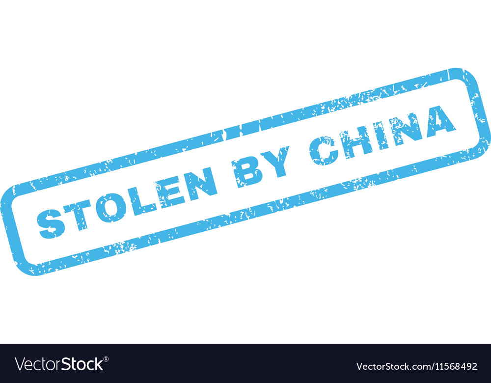 Stolen By China Rubber Stamp