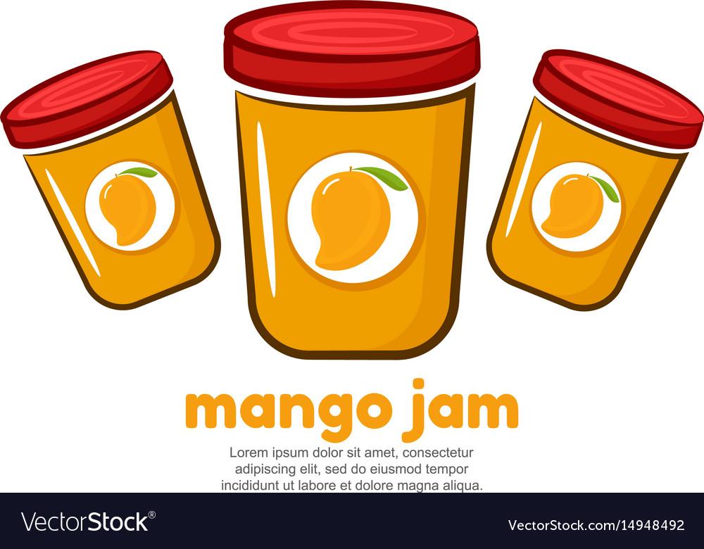 Template Logo For Mango Jam Vector Image