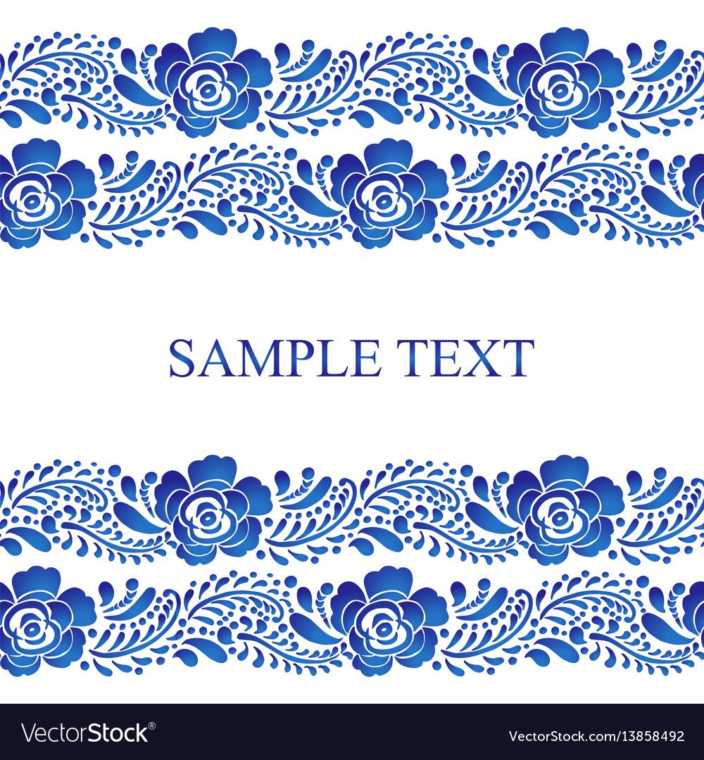 Traditional russian seamless pattern frame