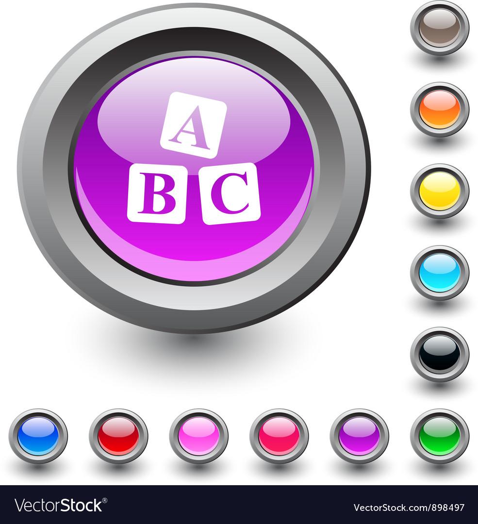 Abc cubes round button