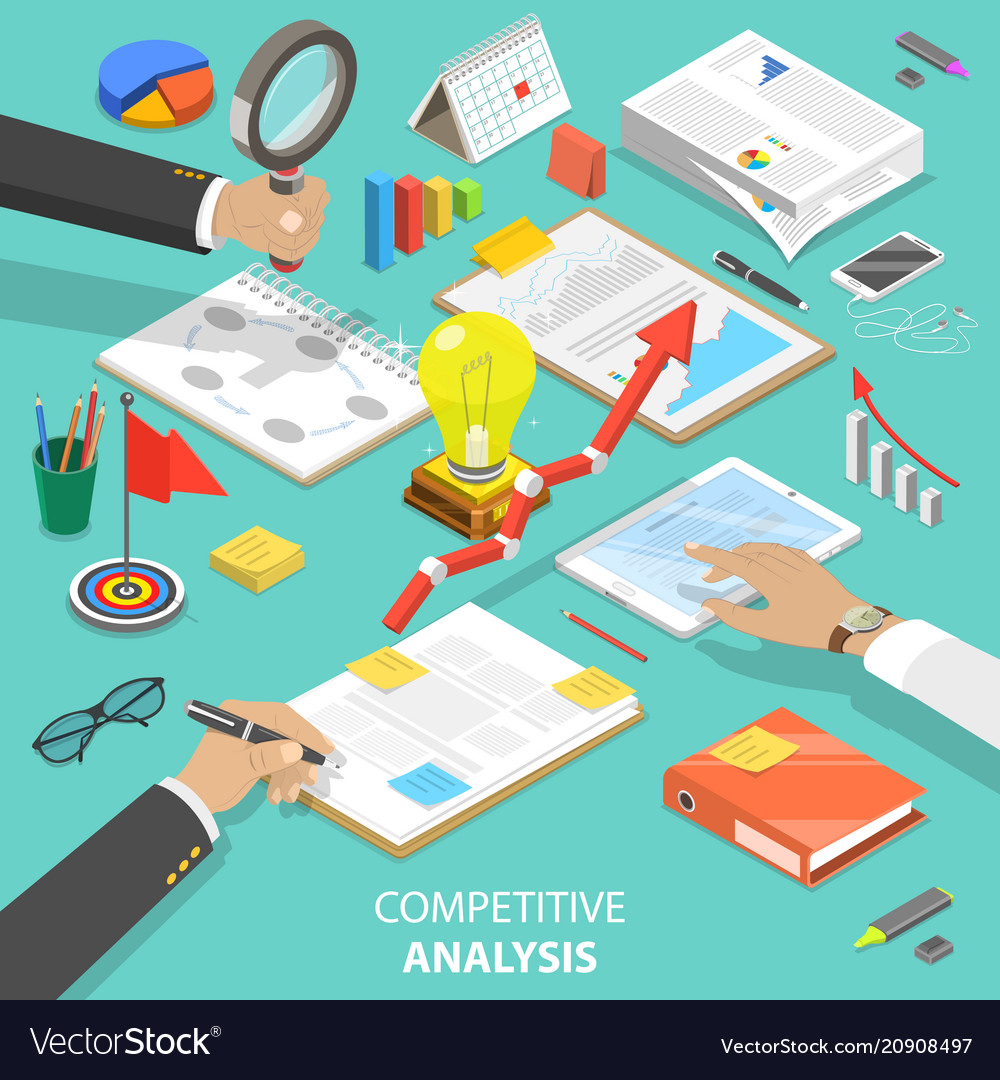 Competitive analysis flat isometric concept