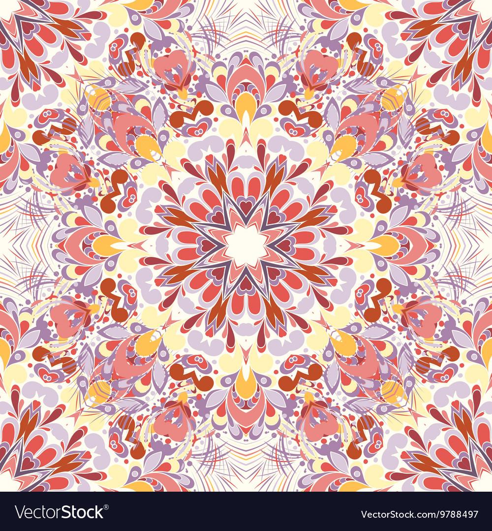 Mandala round seamless pattern