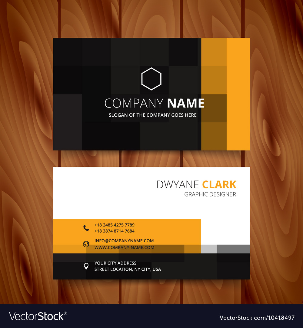 Modern pixel business card design