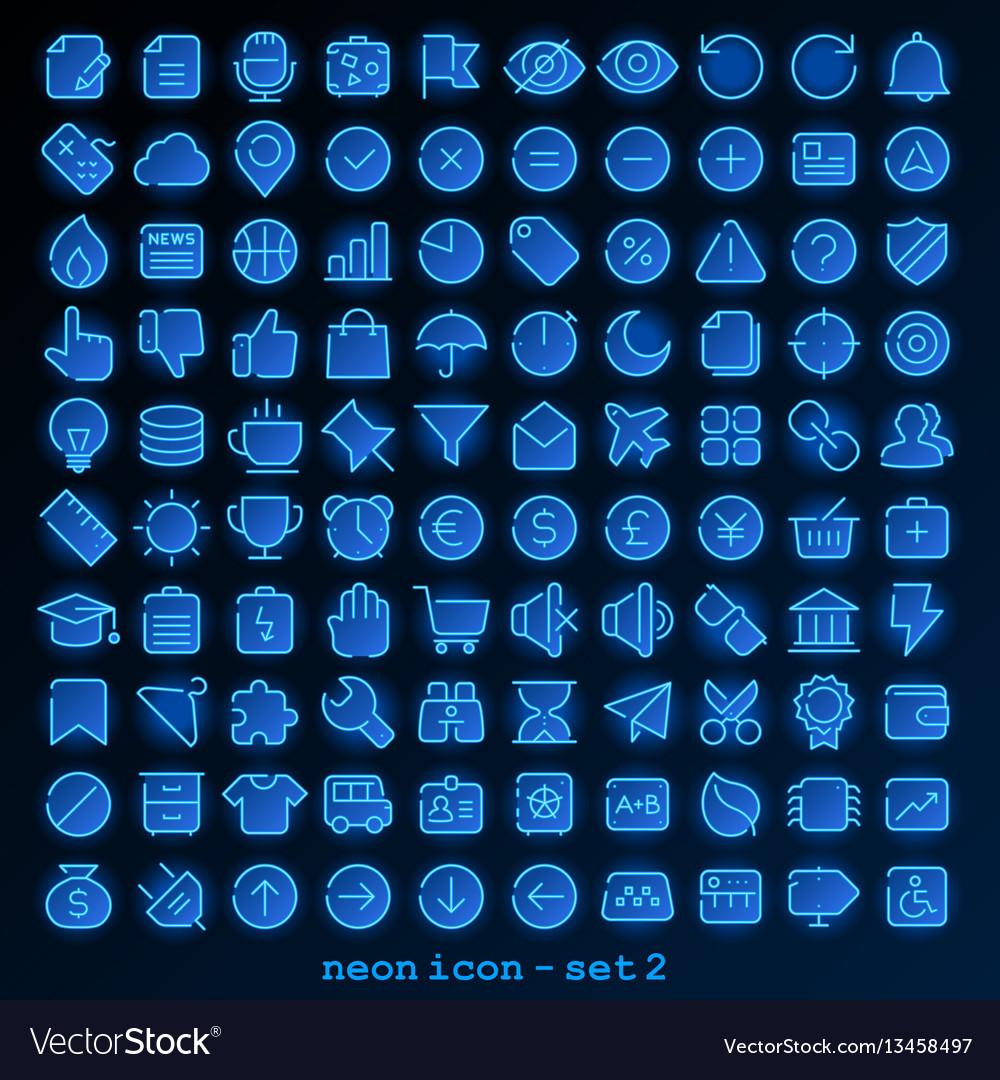 Neon line icon - set 2