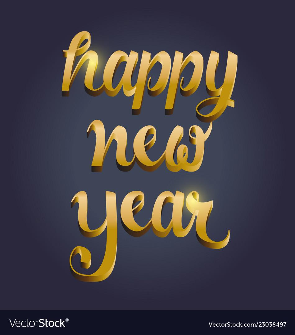 New year typography