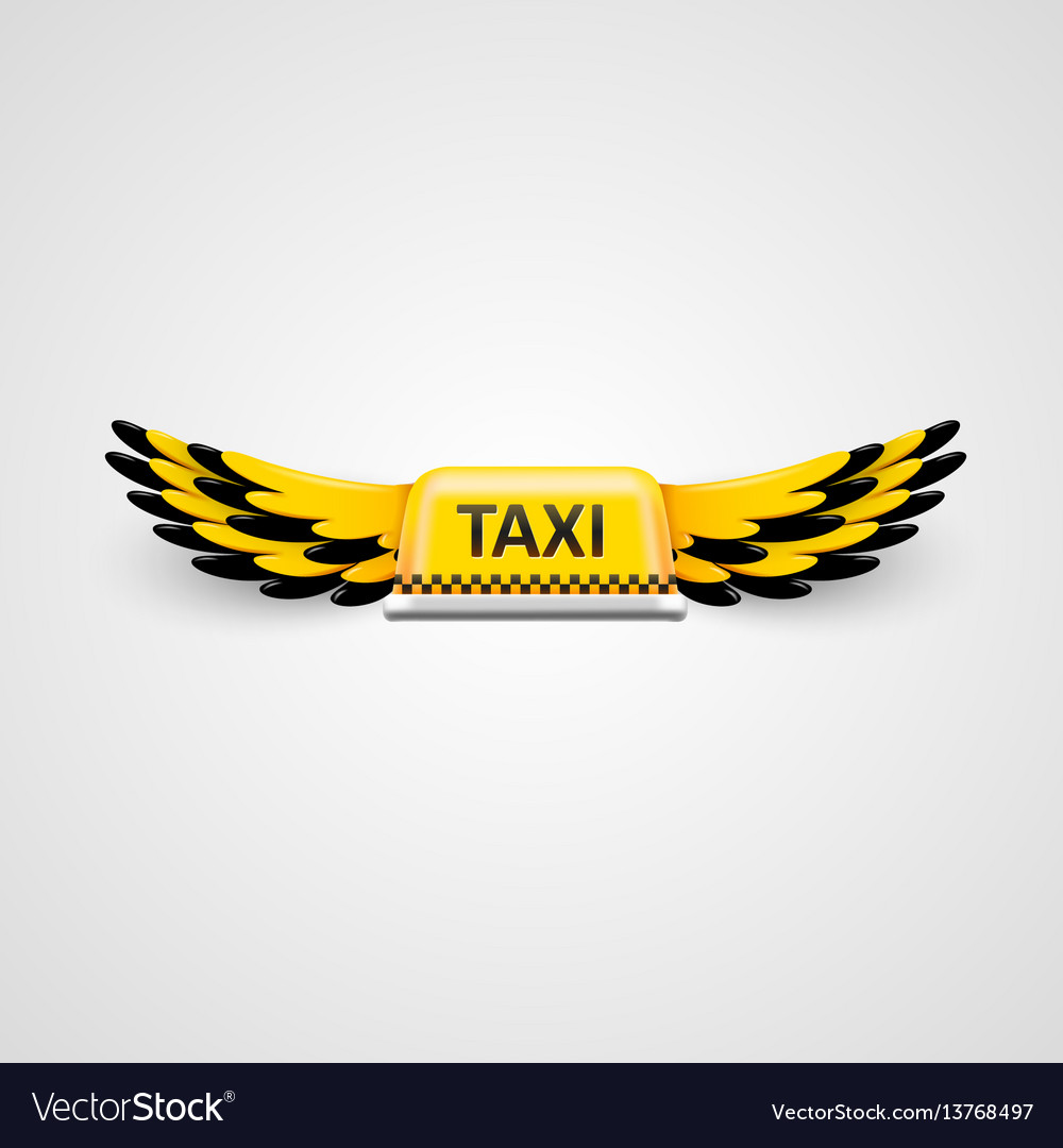 Taxi business logo flying taxi concept