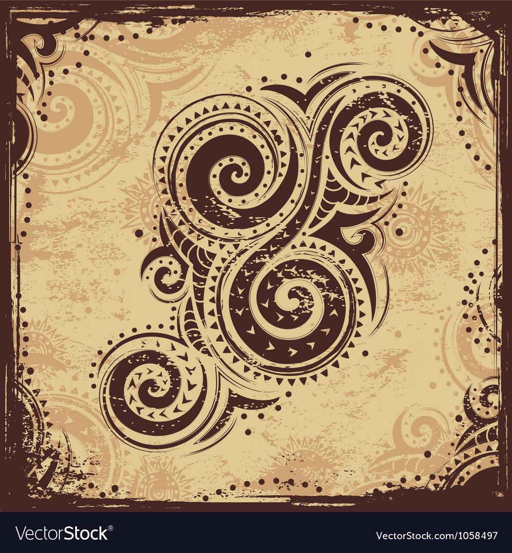 Tribal ornament vector image