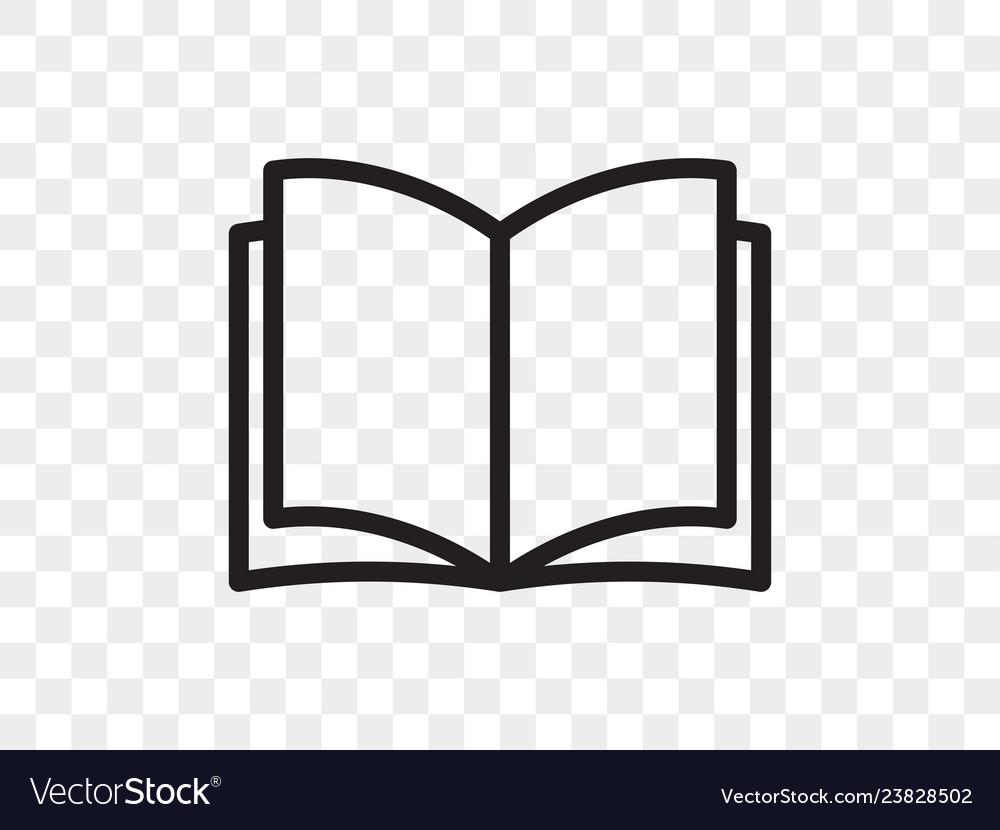 Book line icon open book reader linear web app