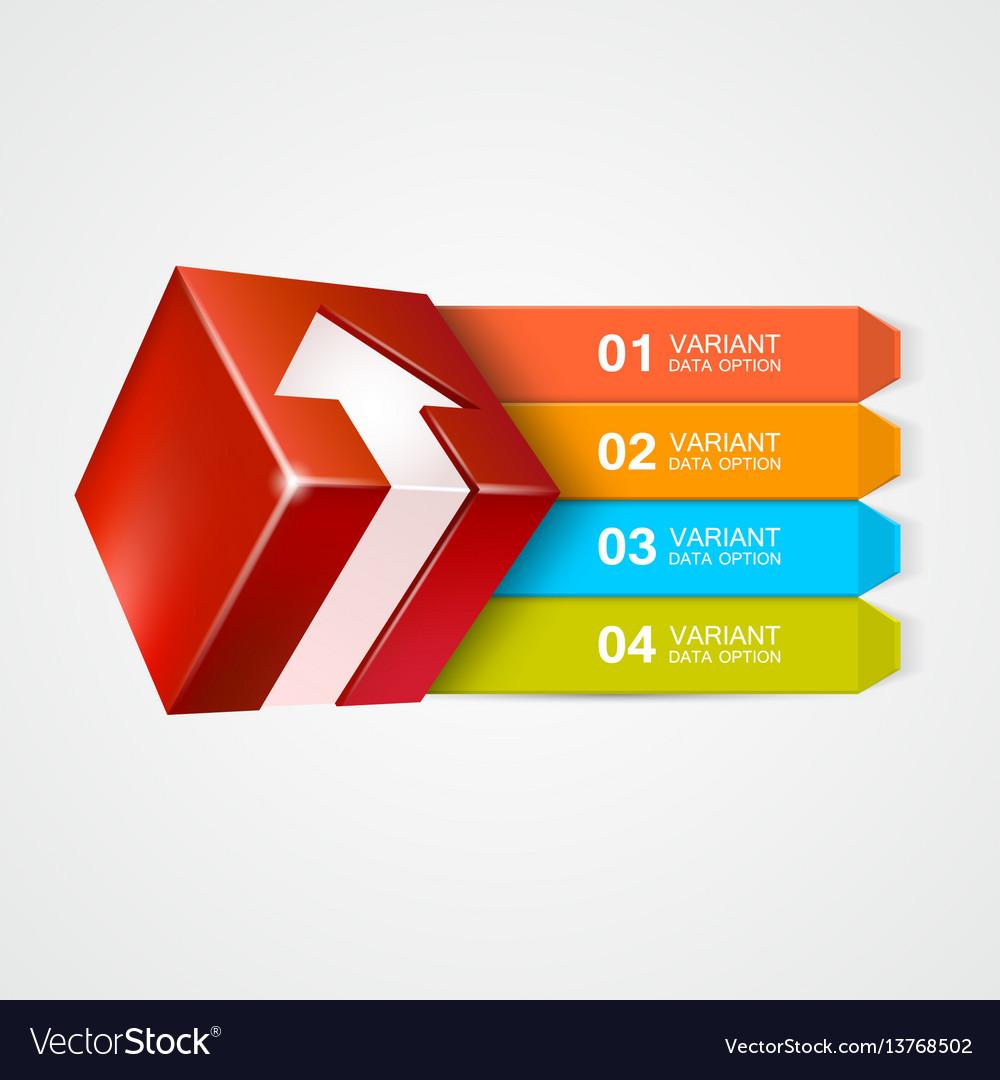 Box with arrow infographics concept
