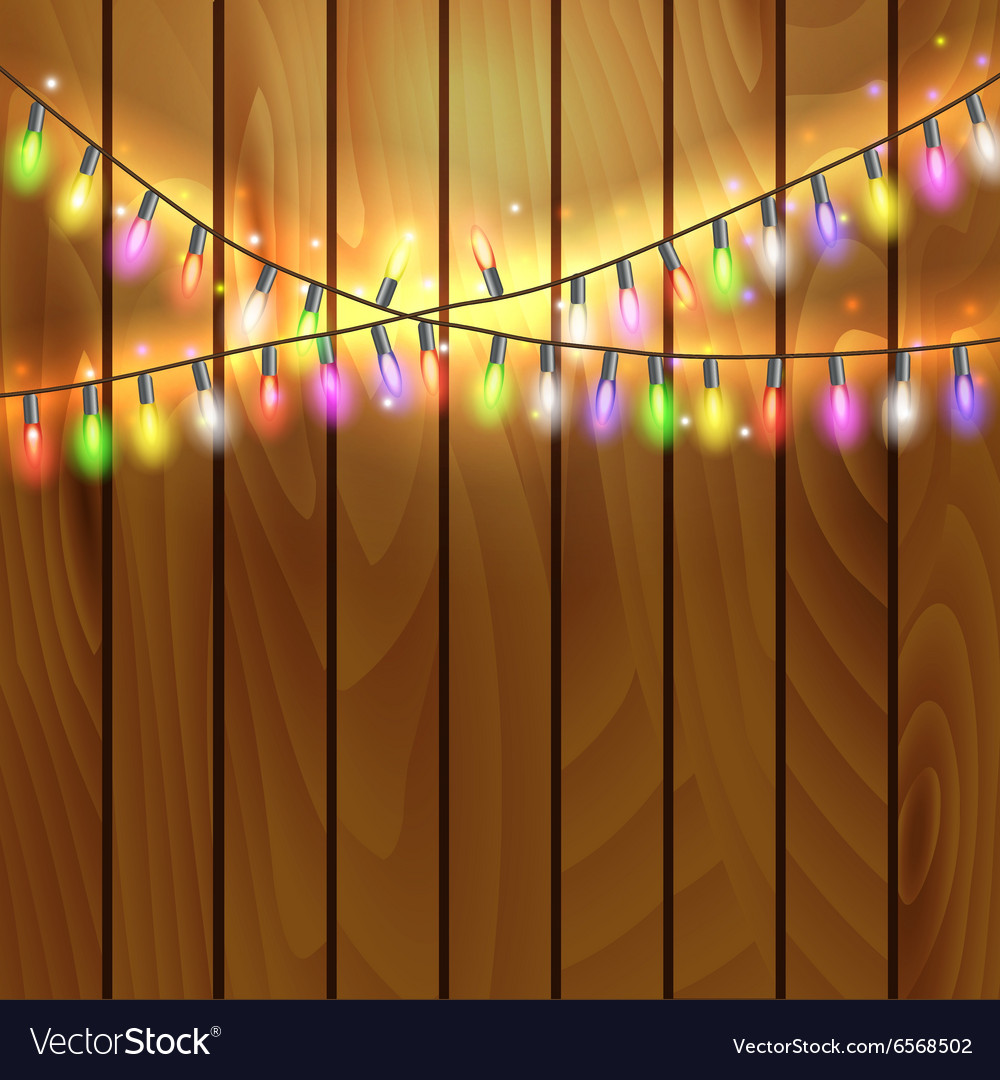 Christmas and New Year design on wooden background