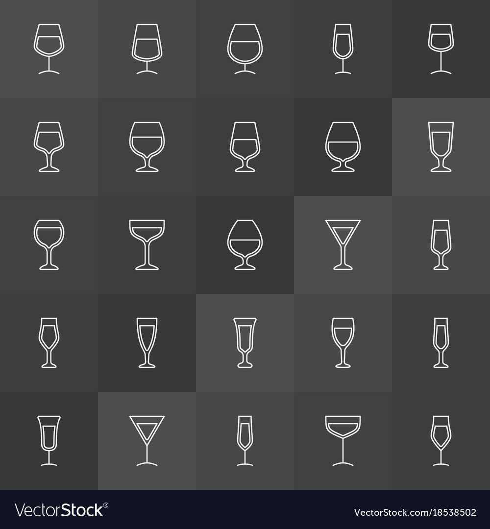 Cocktail and wine glass icons