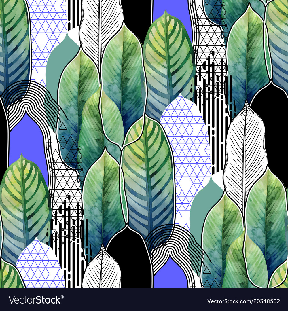 Combined exotic leaves pattern