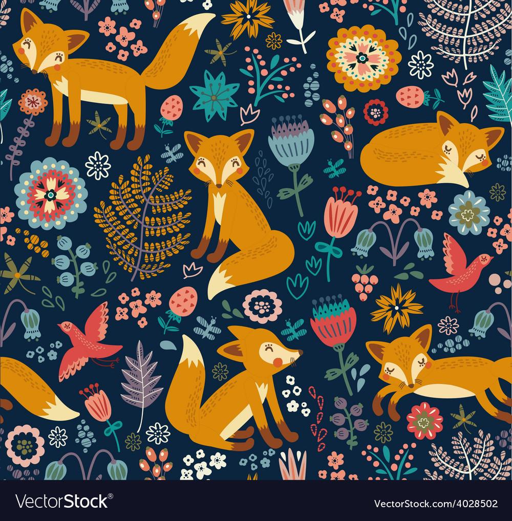 Foxy pattern dark