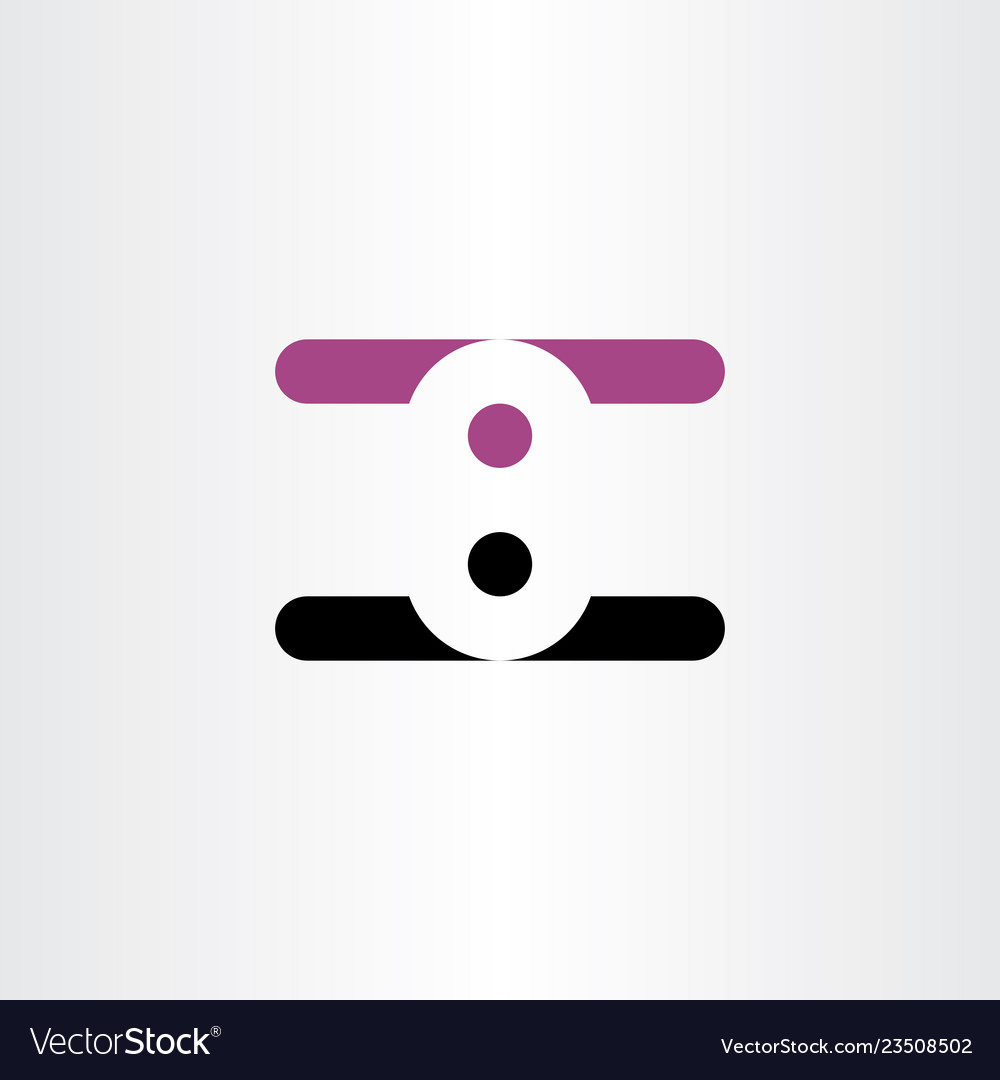 Number eight 8 logo negative space design logotype