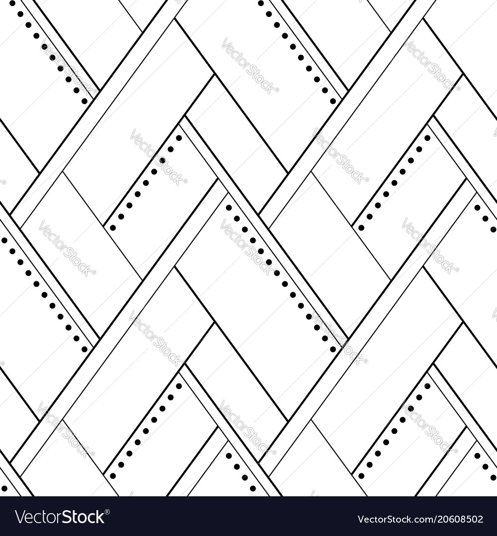 Seamless geometric pattern black and white