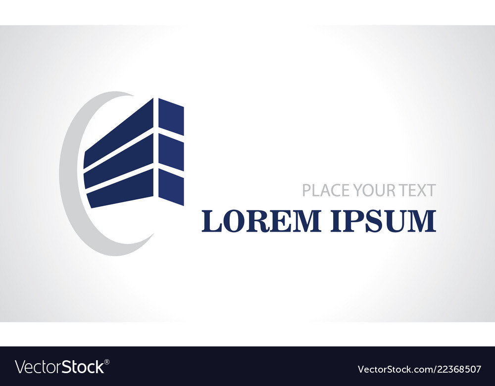Abstract shape building construction logo