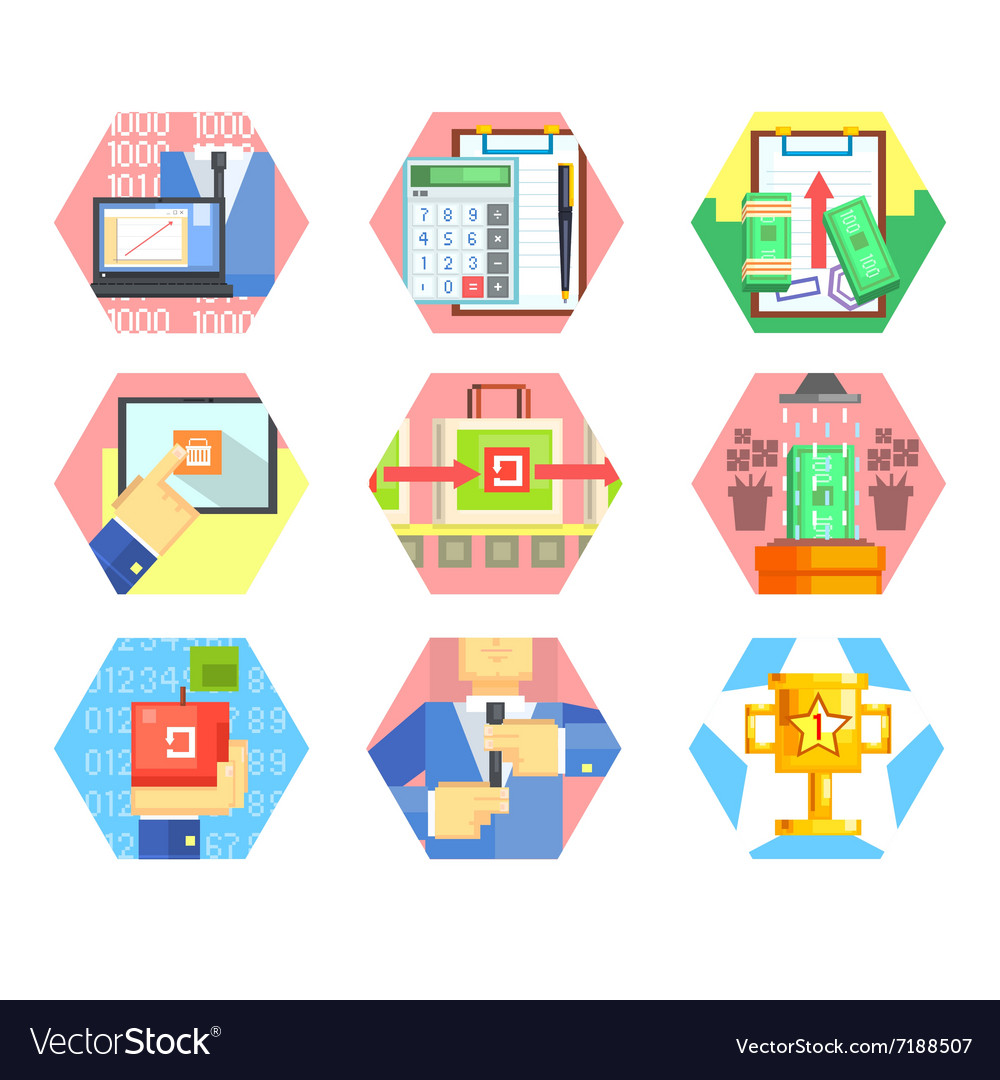 Business Office and Marketing Icons Set