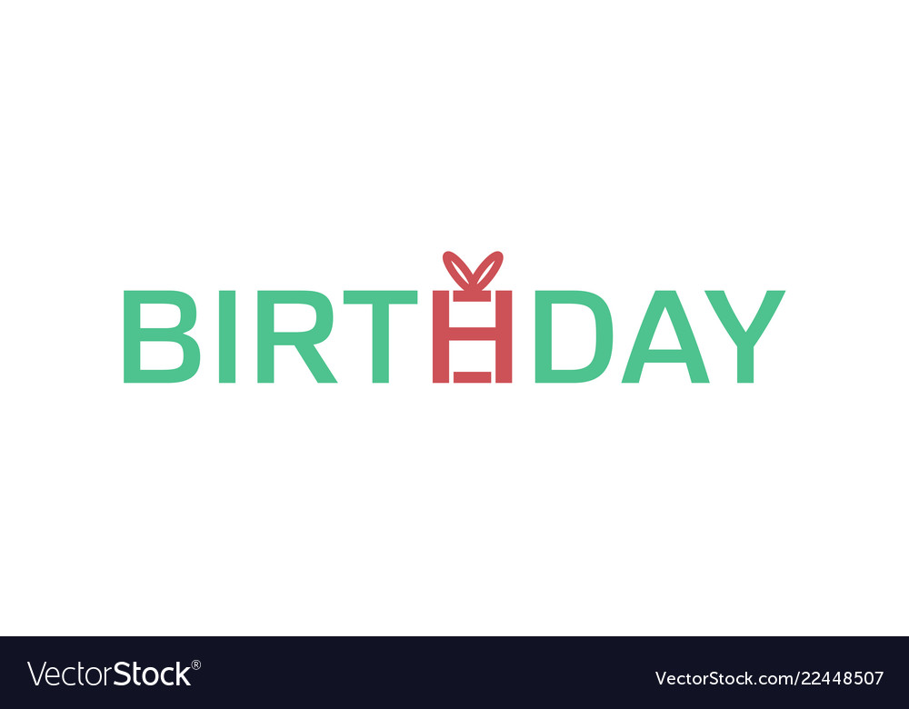 Creative birthday typography letter logo