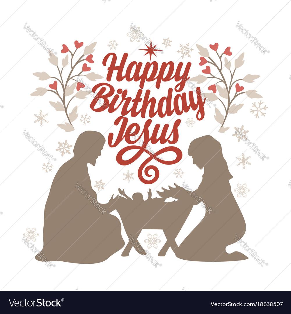 Happy Birthday Jesus Vector Image