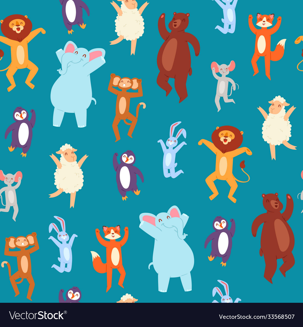 Musical animal wallpaper pattern seamless cute