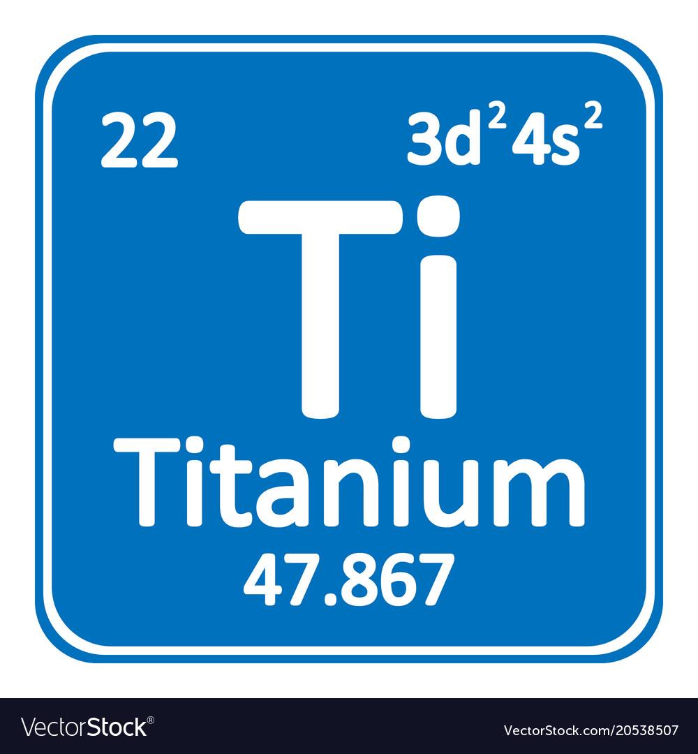 Periodic table element titanium icon royalty free vector periodic table element titanium icon vector image urtaz Gallery