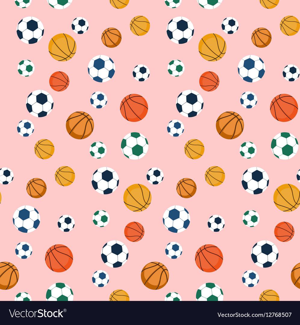 Sport balls seamless pattern