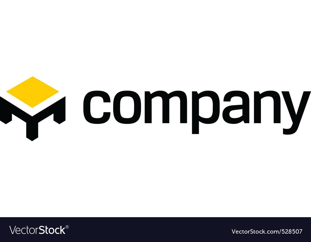 Table logo furniture company vector image