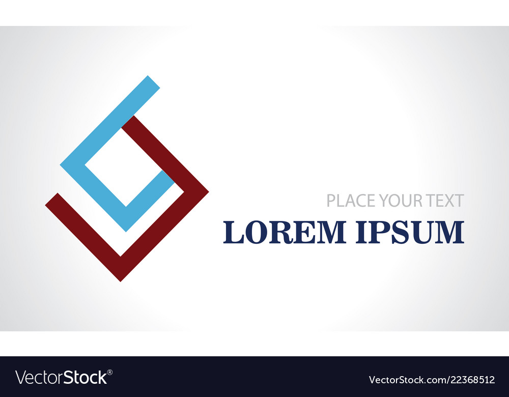 Abstract square geometry color logo