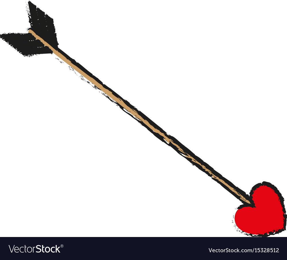 Arrow Love Valentines Day Related Icon Image Vector Image