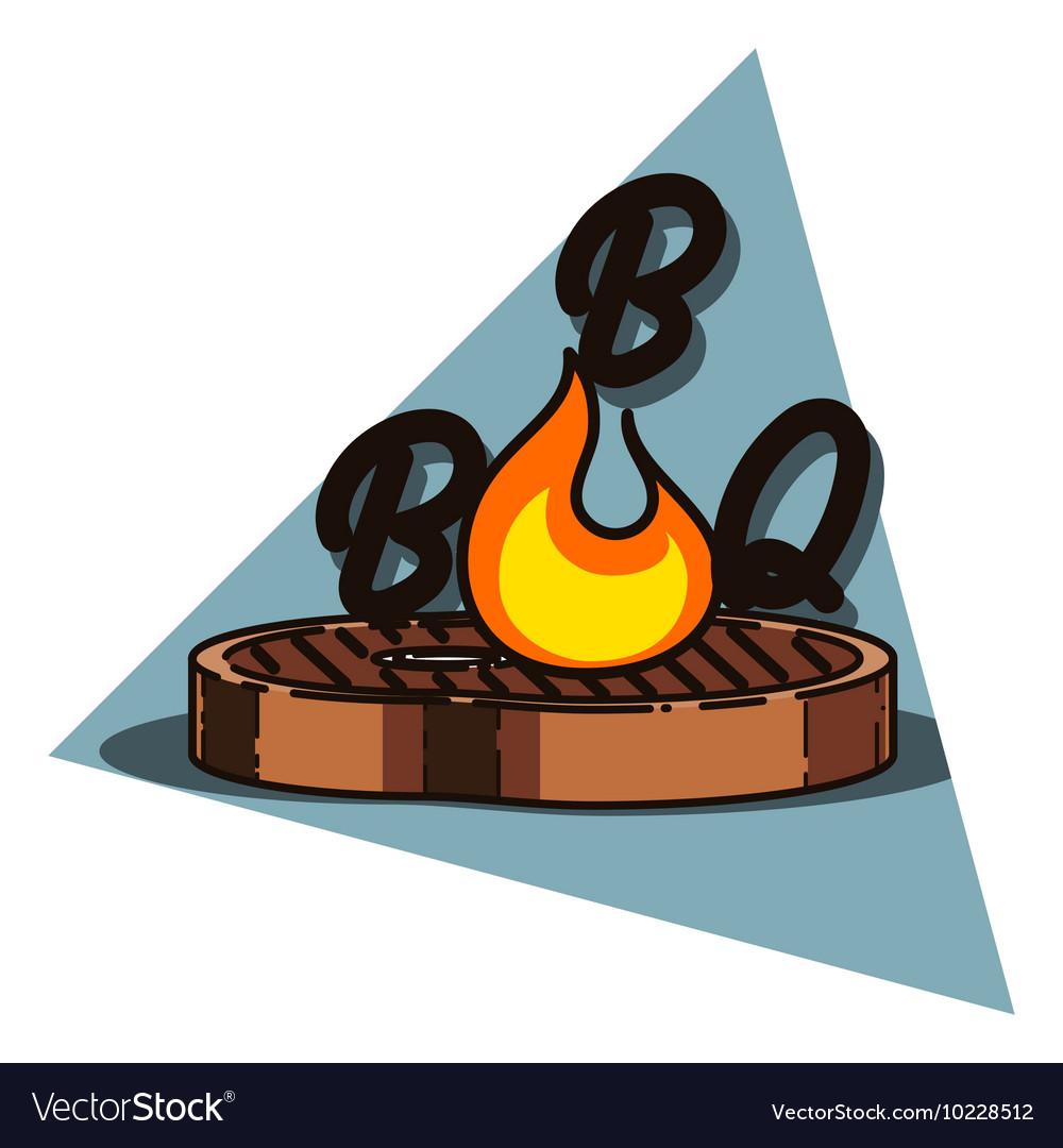 Color vintage barbecue emblem