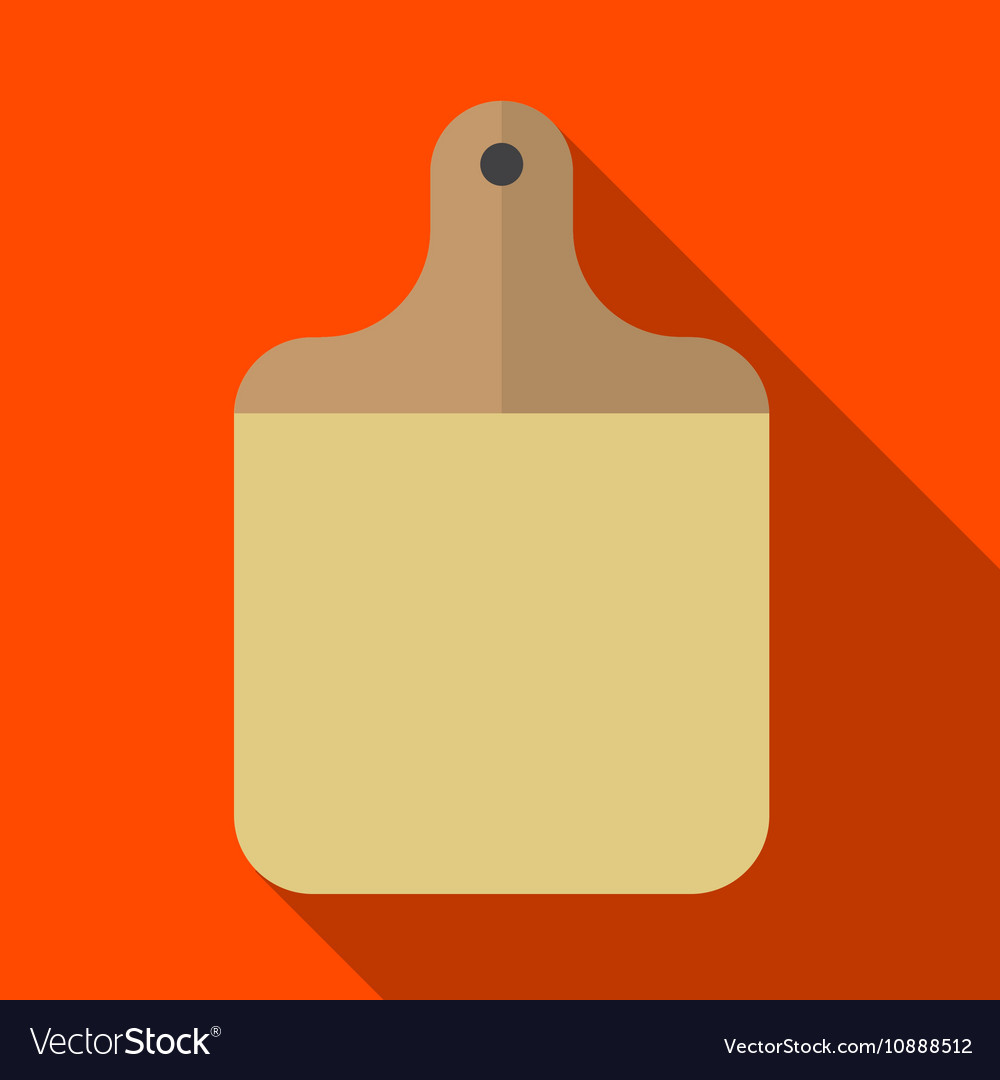 Cutting board flat icon vector image