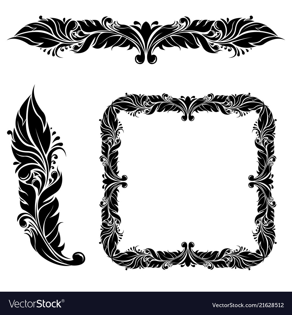Floral decorations frame and dividers