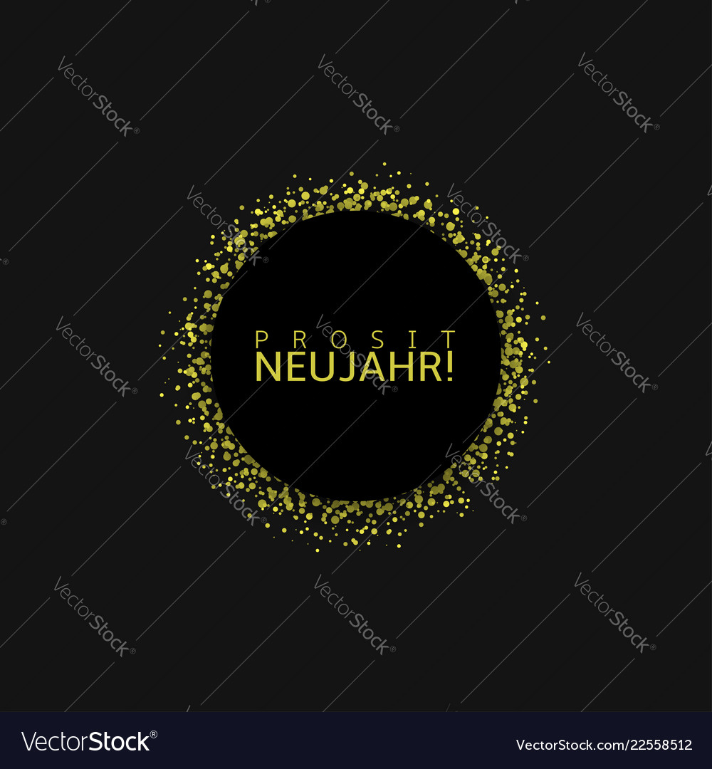 german new year label vector image