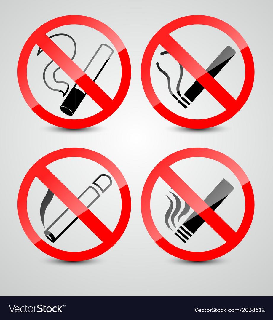 No smoking sign vector advise you
