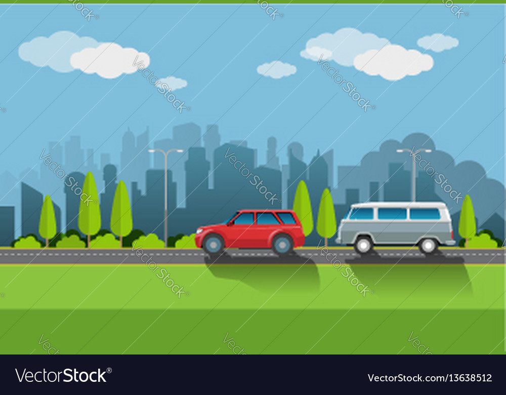 Urban atmosphere vector image