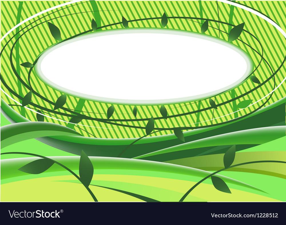 Vegetative background vector image