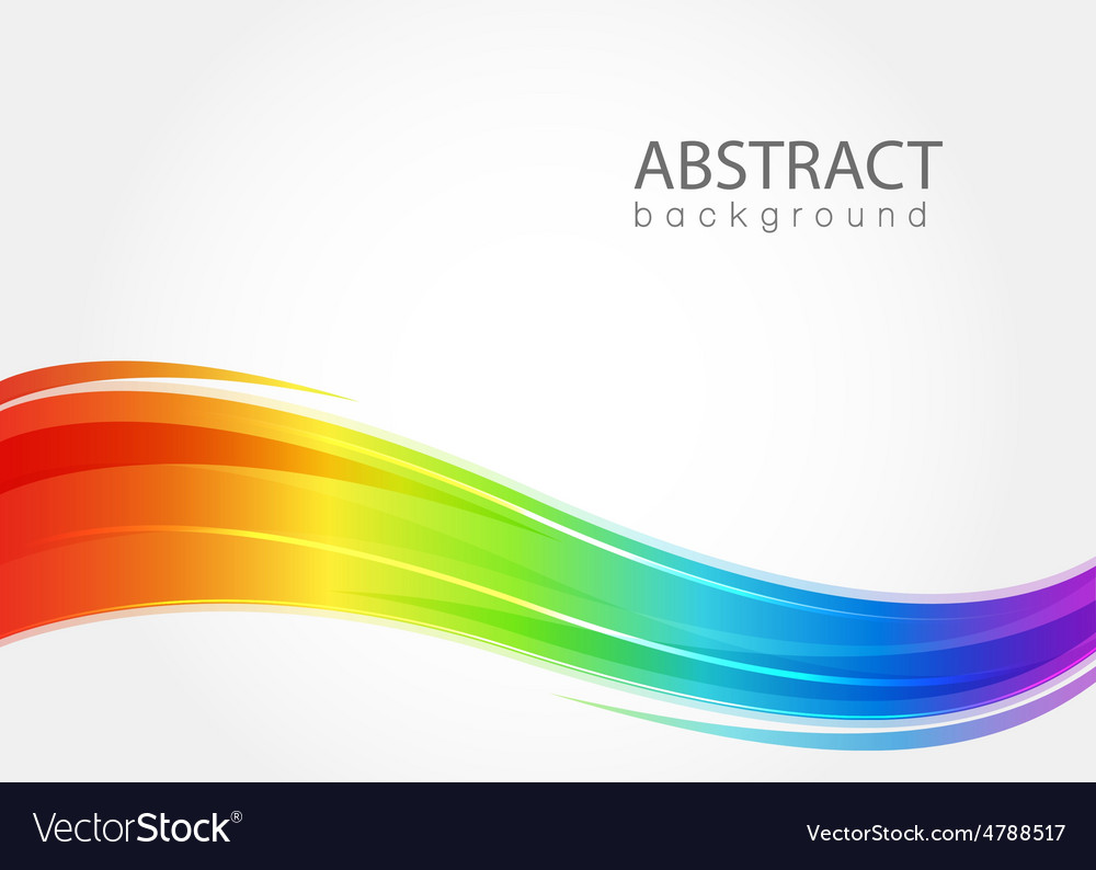 Abstract background with rainbow wave