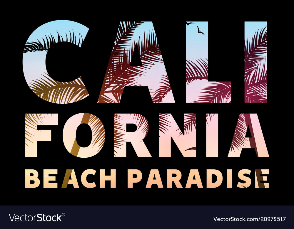 California tropical poster banner template