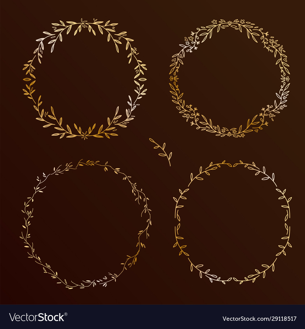 Chic design hand drawn elements set floral