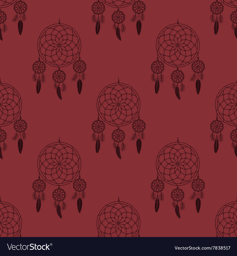 Dream catcher pattern vector image