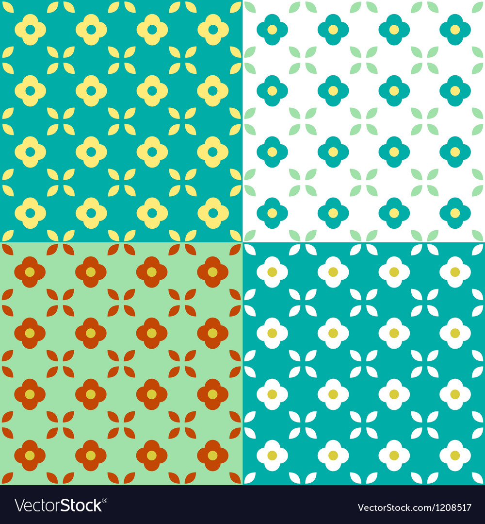 Graphic Flowers Seamless Pattern