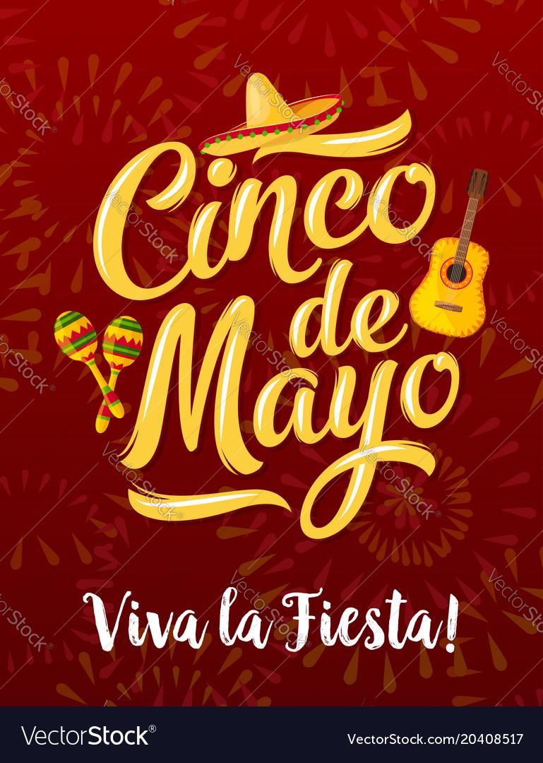 Mexican fiesta banner for cinco de mayo holiday