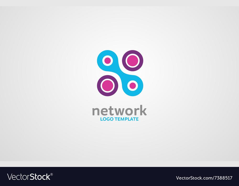 Network logo Digital logo Company network logo