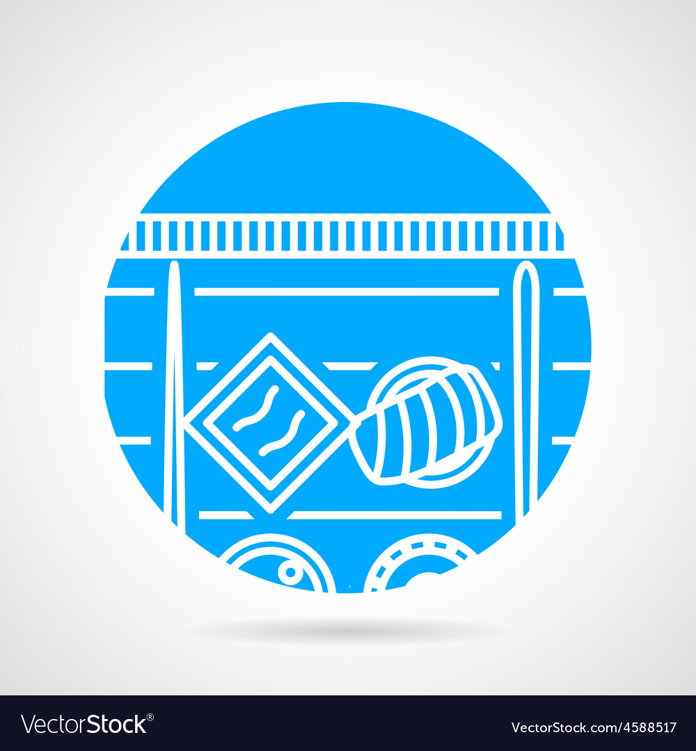 Sushi menu round icon vector image