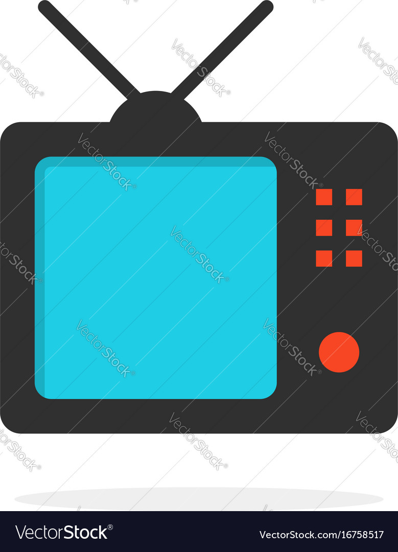 Tv icon with shadow