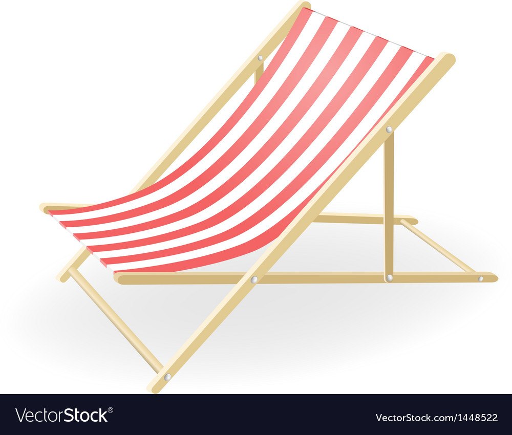 Beau Striped Sunchair Vector Image
