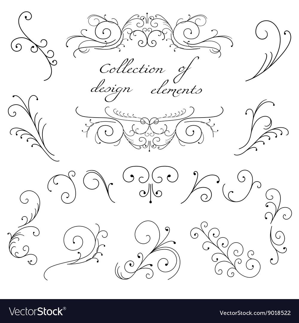 Swirl decorative elements vector image