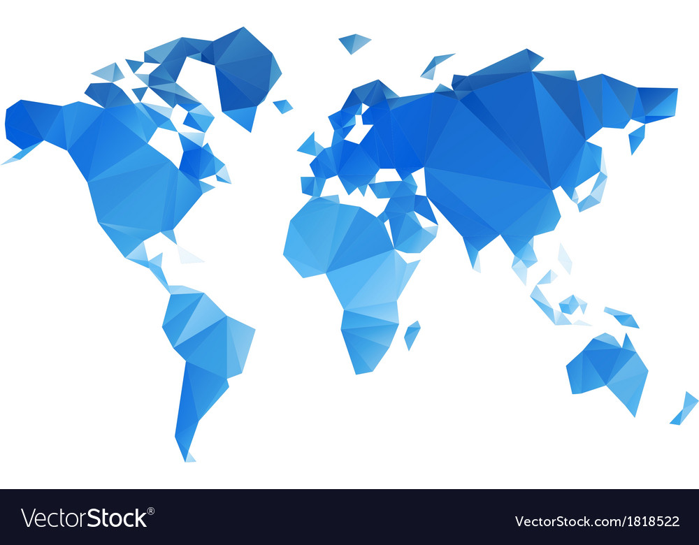 Triangular world map file royalty free vector image triangular world map file vector image gumiabroncs